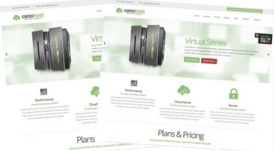 CanoHost Business Template