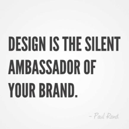 design is a silent ambassador of business