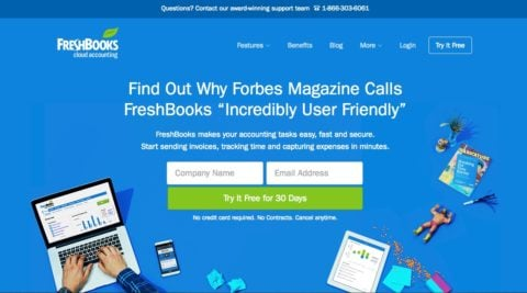 Accounting Software Freshbooks  Box Opening