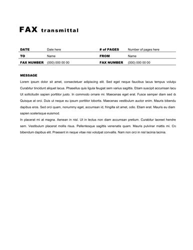 Sample Modern Fax Cover Sheet Download Modern Fax Cover Sheet