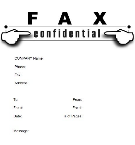Sample Professional Fax Cover Sheet Template Free Printable Fax