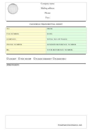 Business Fax Template Classic Bordered Fax Template  Free
