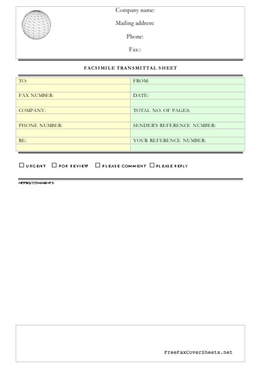 Business Fax Template. Classic Bordered Fax Template 29 Free