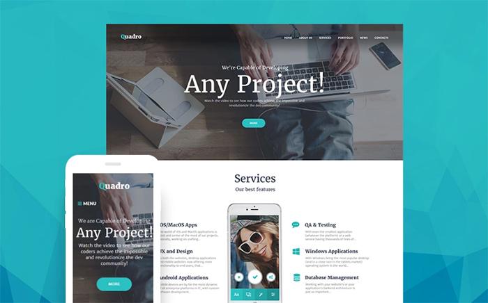 Quadro - Software Company WordPress Theme