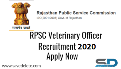 RPSC Veterinary Office Recruitment 2020