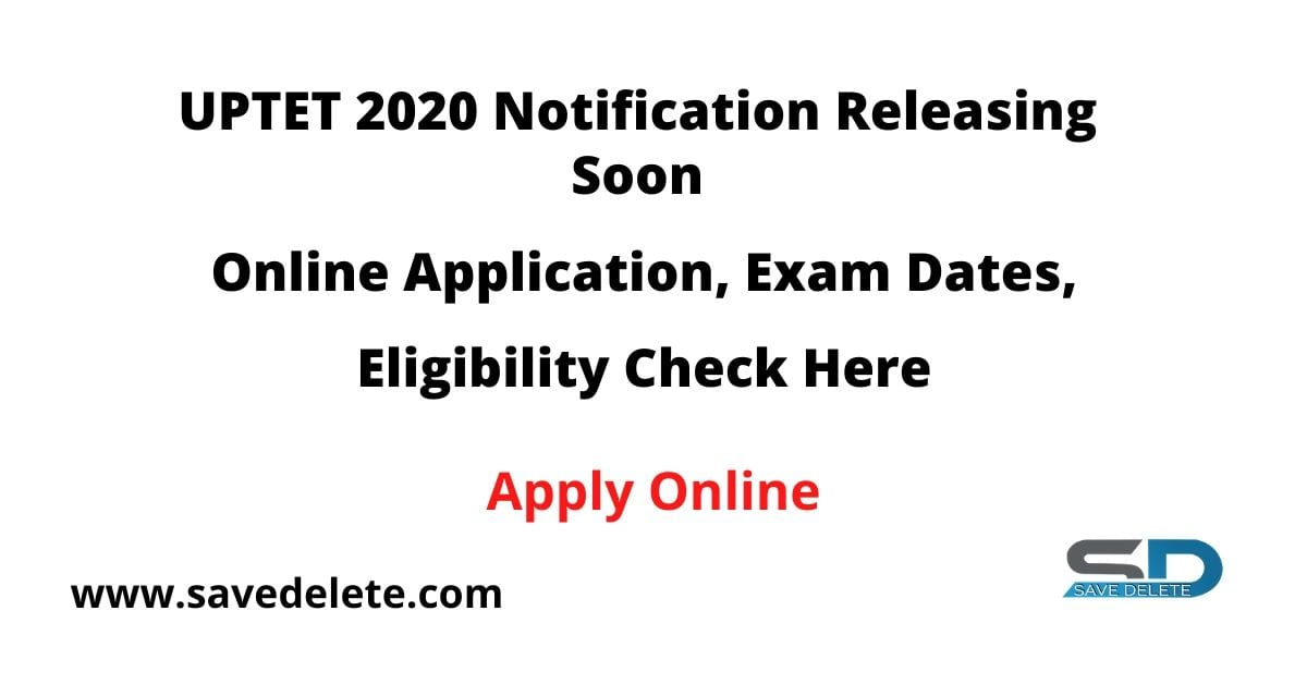 UPTET 2020 Notification