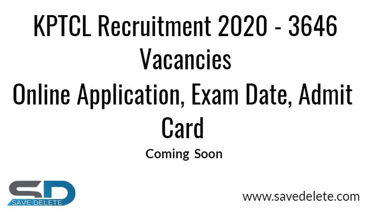 KPTCL Recruitment 2020
