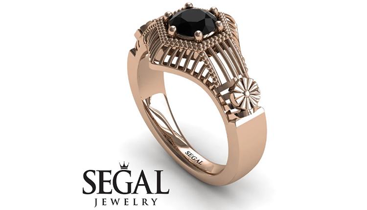 black-diamond-engagement-rings