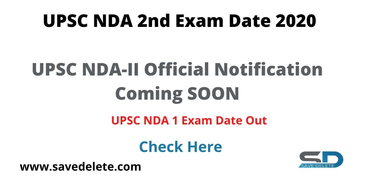 UPSC NDA 2nd Exam Date 2020