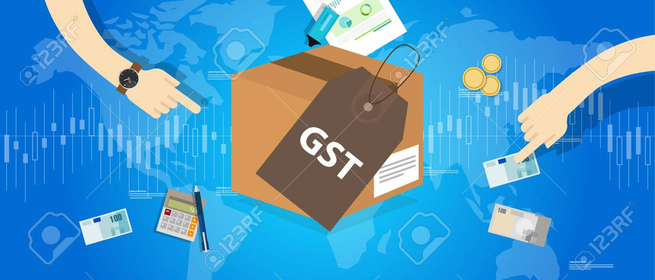 GST Good and Services Tax concept