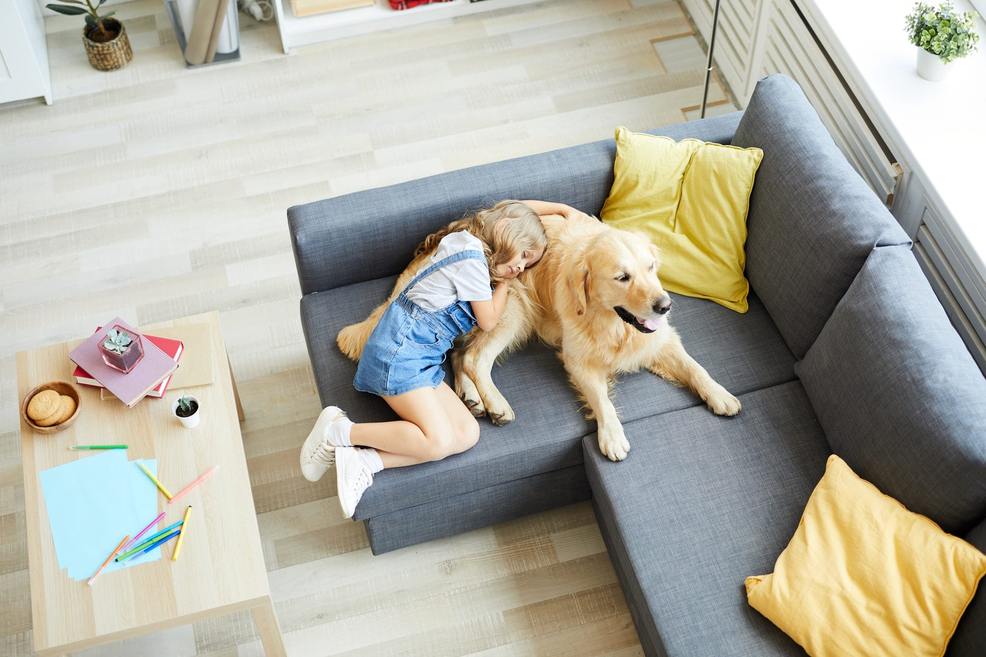 Sleeping with pet