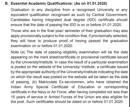 SBI Clerk Mains Academic Qualification 2020