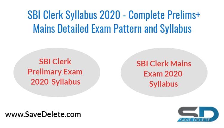 SBI Clerk Syllabus 2020