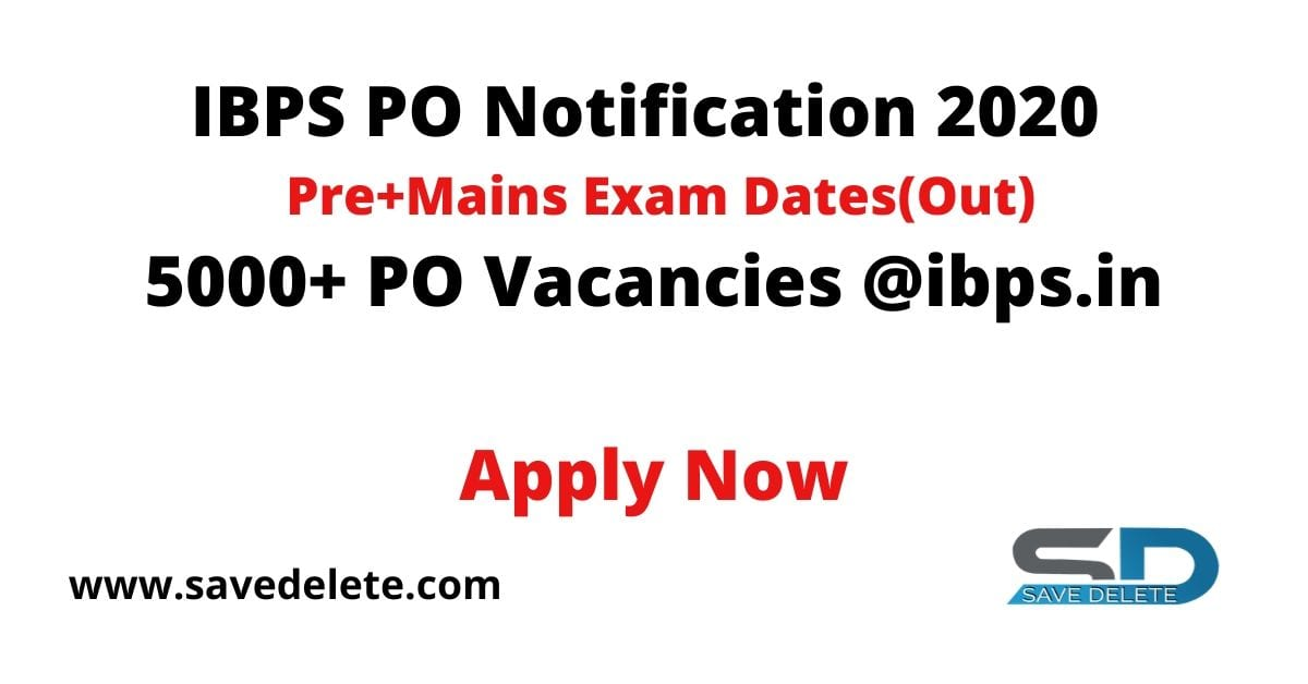 IBPS PO Notification 2020