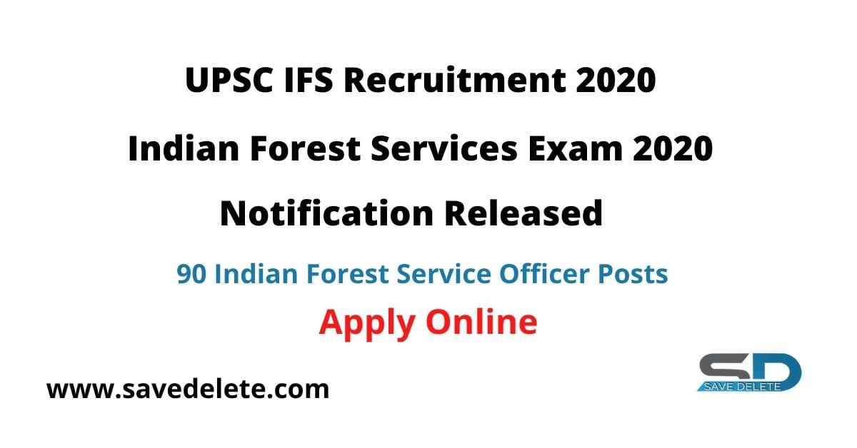 UPSC IFS Recruitment 2020