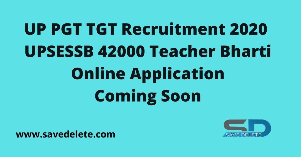 UP PGT TGT Recruitment 2020