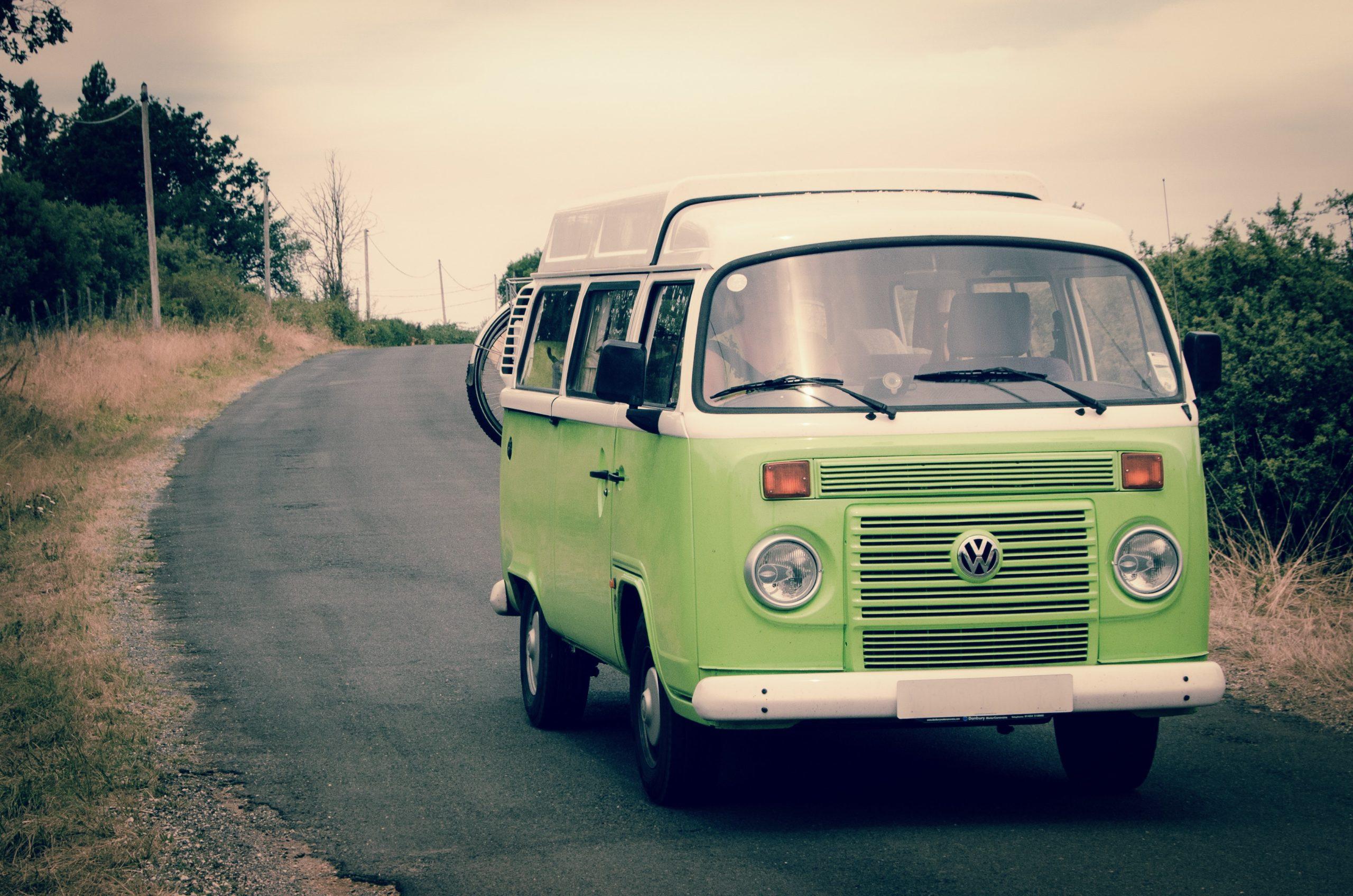 green-and-white-volkswagen-combi