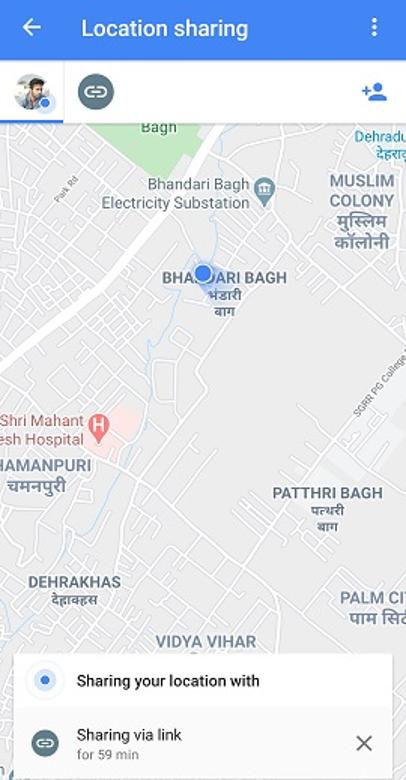 location shared
