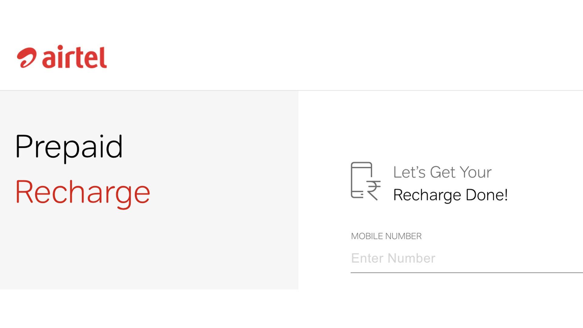 recharge airtel prepaid