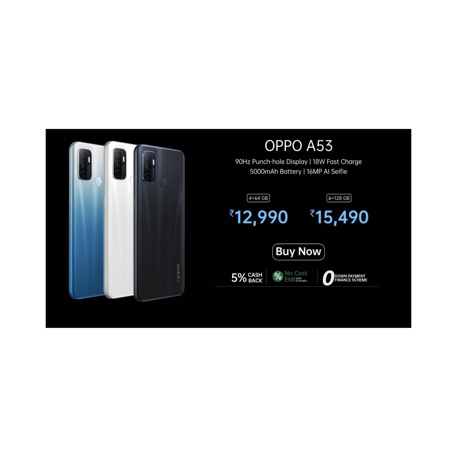 OPPO A53 Smartphone With 3-camera System Now In India