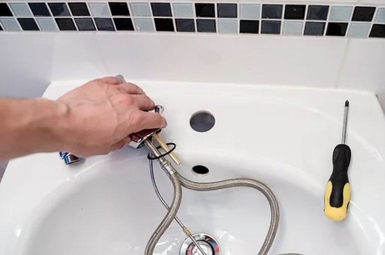 : A plumber's point of view of a wash basin