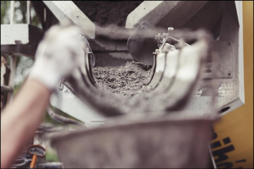 Closeup of a Cement Truck