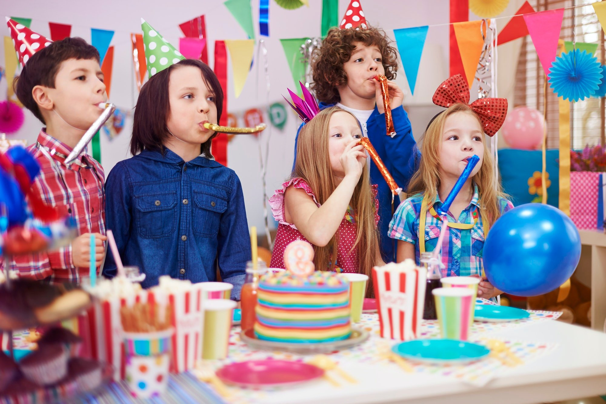 Huge noise at the kid's birthday party