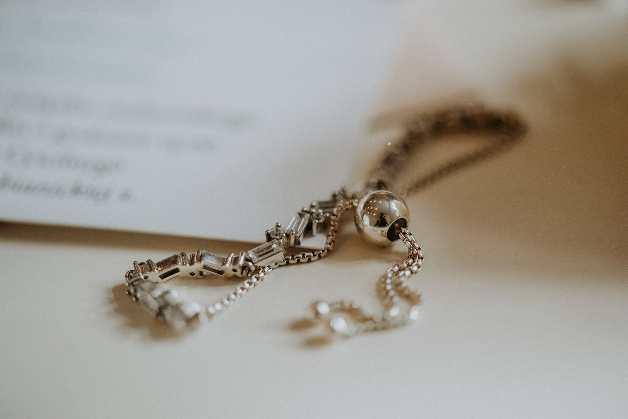 Wedding silver jewellery
