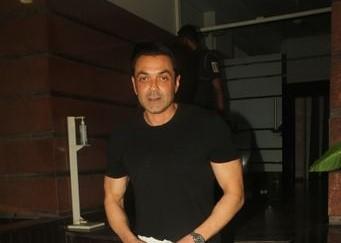 Mumbai: Actor Bobby Deol seen at filmmaker Prakash Jha's office in Andheri, Mumbai on Nov 25, 2020.