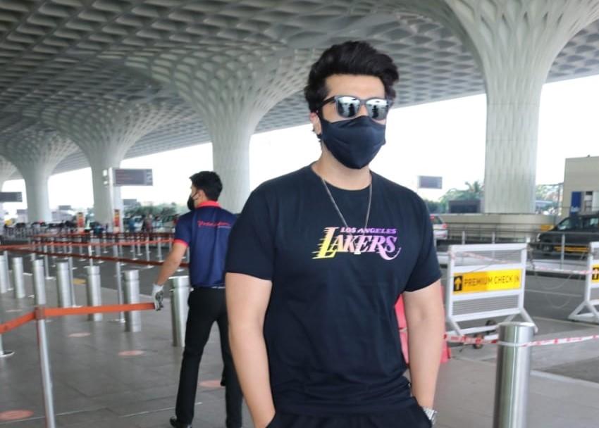 Actor Arjun Kapoor seen at the Chhatrapati Shivaji Maharaj International Airport in Mumbai