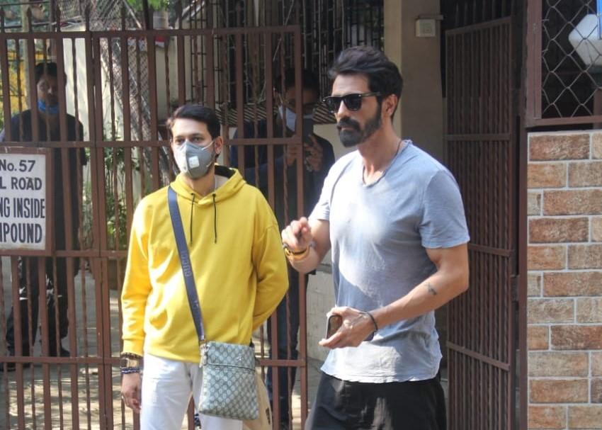 Actor Arjun Rampal seen at Bandra in Mumbai