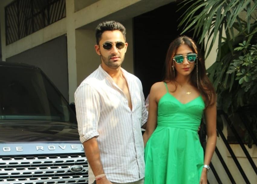 Actor Armaan Jain and his wife Anissa Malhotra arrive at Shashi Kapoor's residence for Christmas bash, in Mumbai