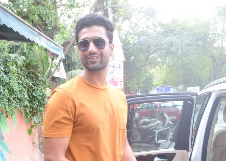 Actor Vicky Kaushal seen at Andheri in Mumbai