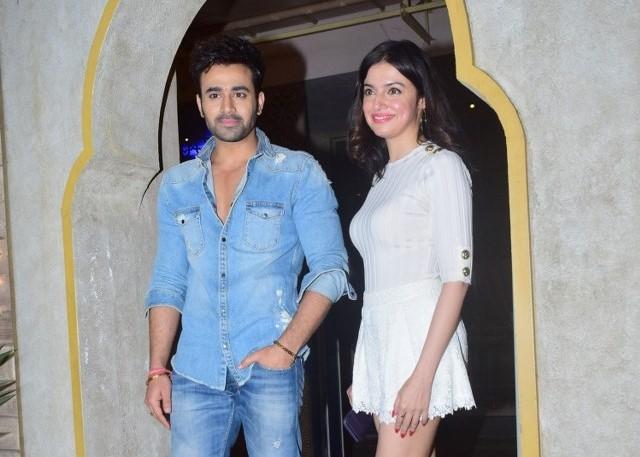 Actors Pearl V Puri and Divya Khosla Kumar seen at Juhu in Mumbai