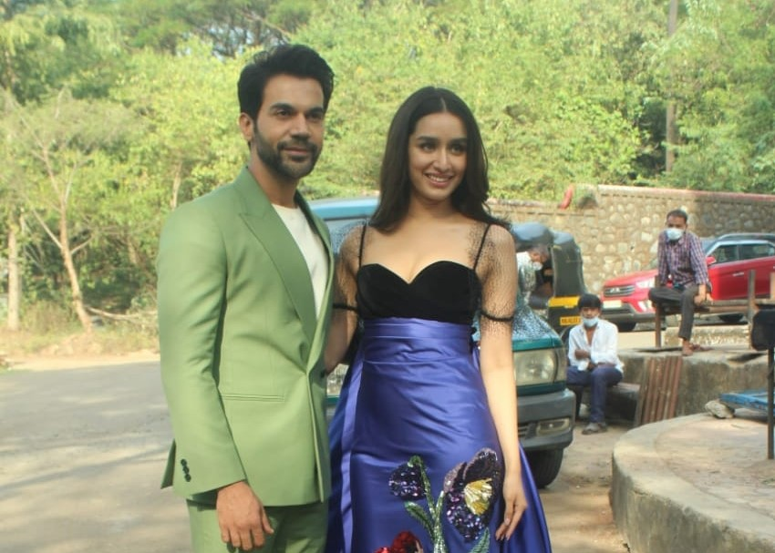 Actors Rajkummar Rao and Shraddha Kapoor at 'Indian Pro Music League', in Mumbai