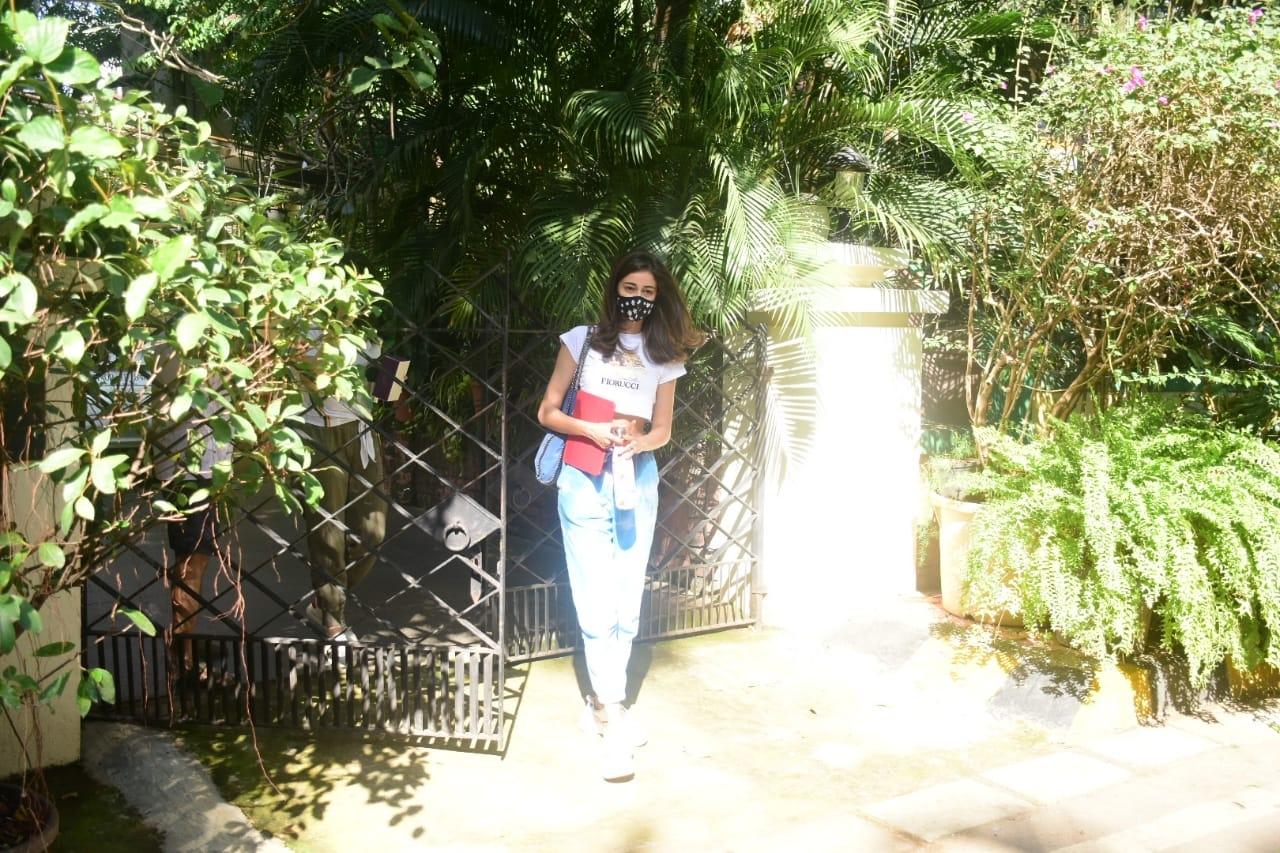 Actress Ananya Panday seen at Bandra in Mumbai