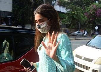 Actress Janhvi Kapoor's sister Khushi Kapoor seen at Bandra in Mumbai