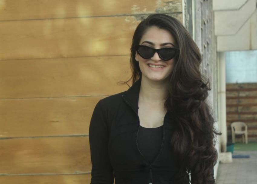 Actress Shivaleeka Oberoi seen at Andheri in Mumbai
