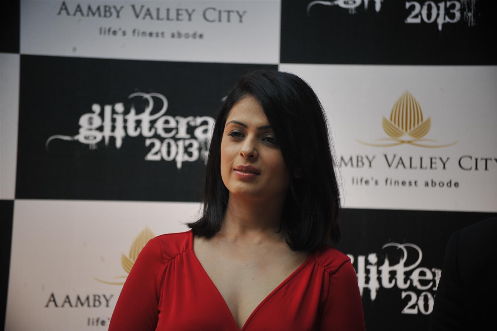 Bollywood actress Anjana Sukhani at a press conference to announce the Aamby Valley City`s New Year Extravaganza Bash `Glitterati 2013`, Hotel Sahara Star in Santacruz, Mumbai
