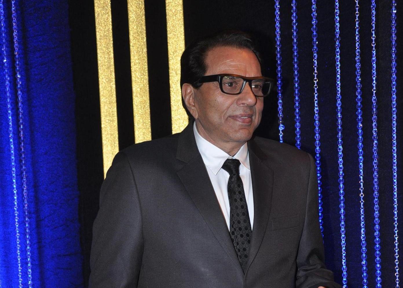 Bollywood actor Dharmendra during the 64th birthday celebrations of actor Rakesh Roshan in Mumbai