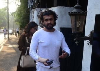 Singer Sonu Nigam seen at Bandra in Mumbai