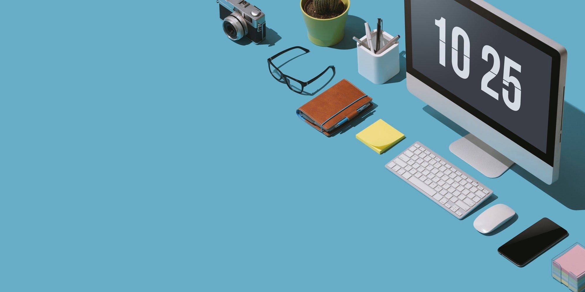 Contemporary business desktop