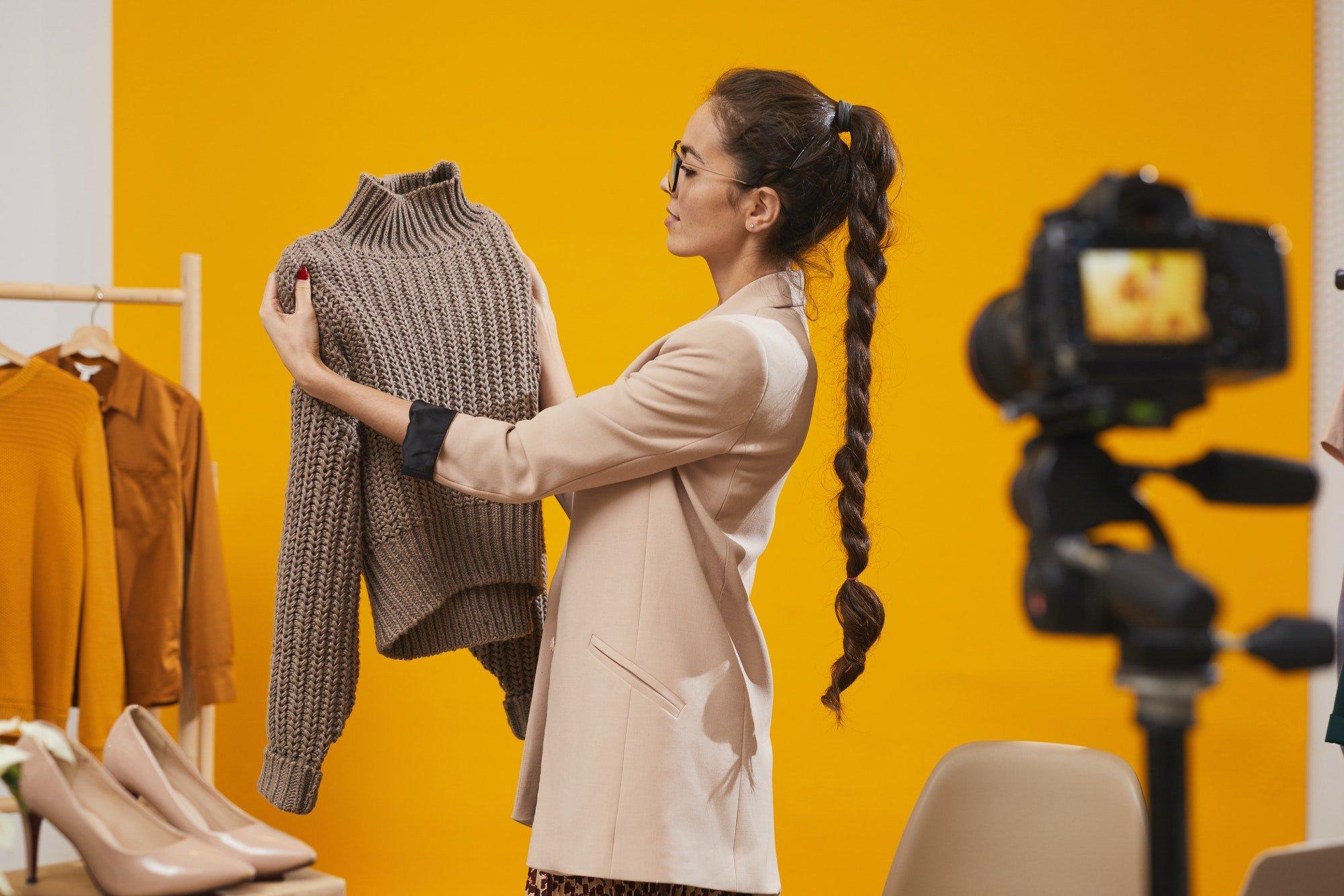 Fashion Vlogger Filming Video