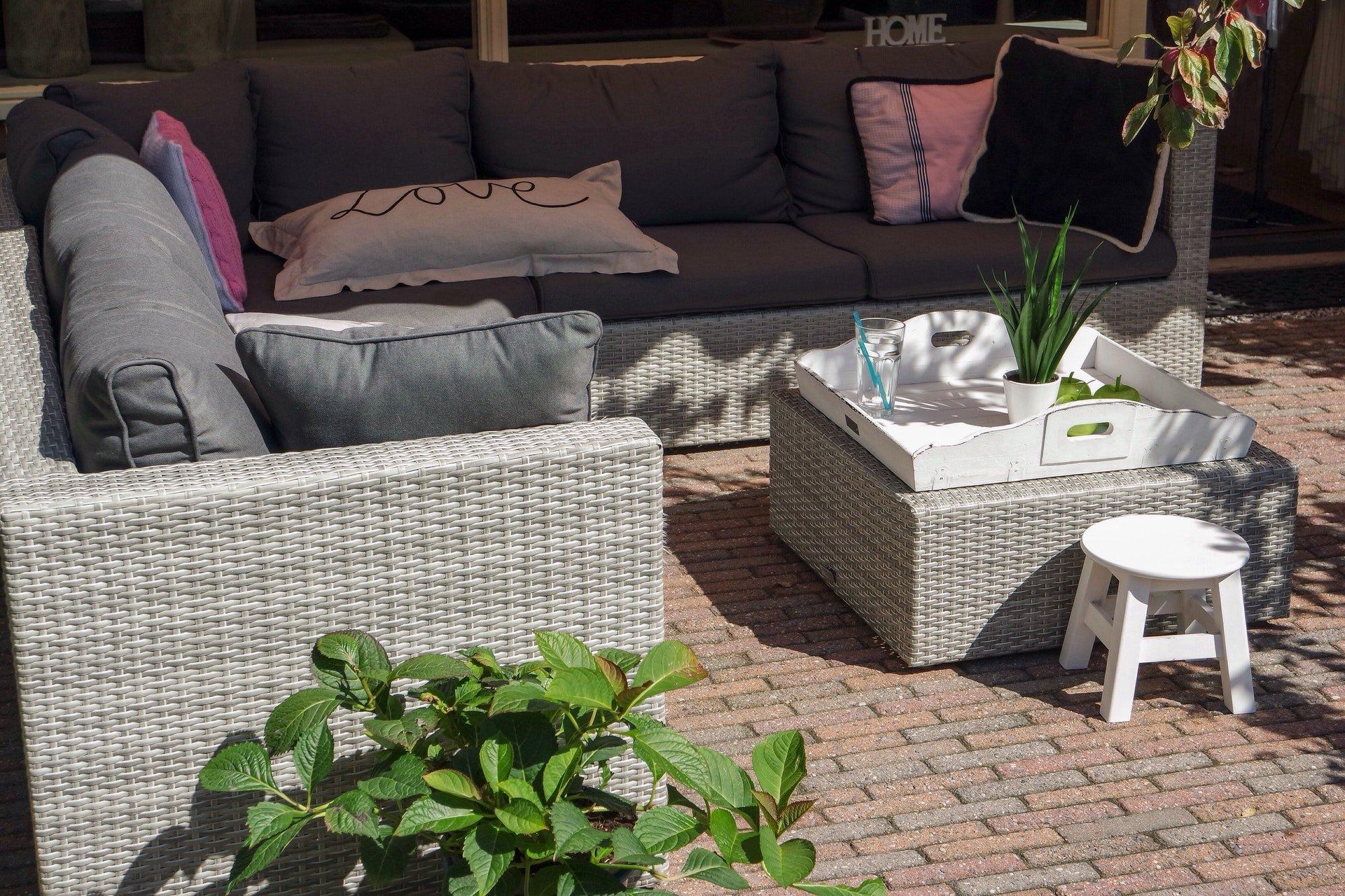 Outdoor furniture. Outdoor living space.