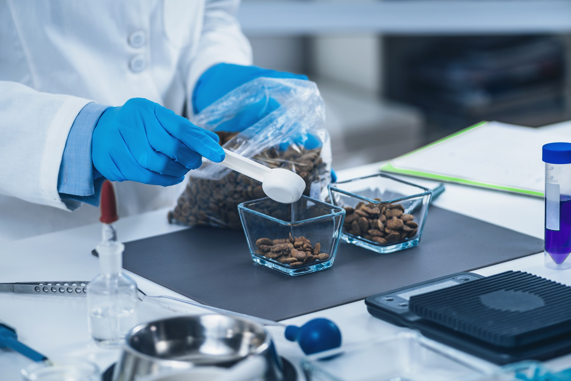 Pet Food Quality Control. Sample Preparation of Dry Dog Food for Testing in Laboratory