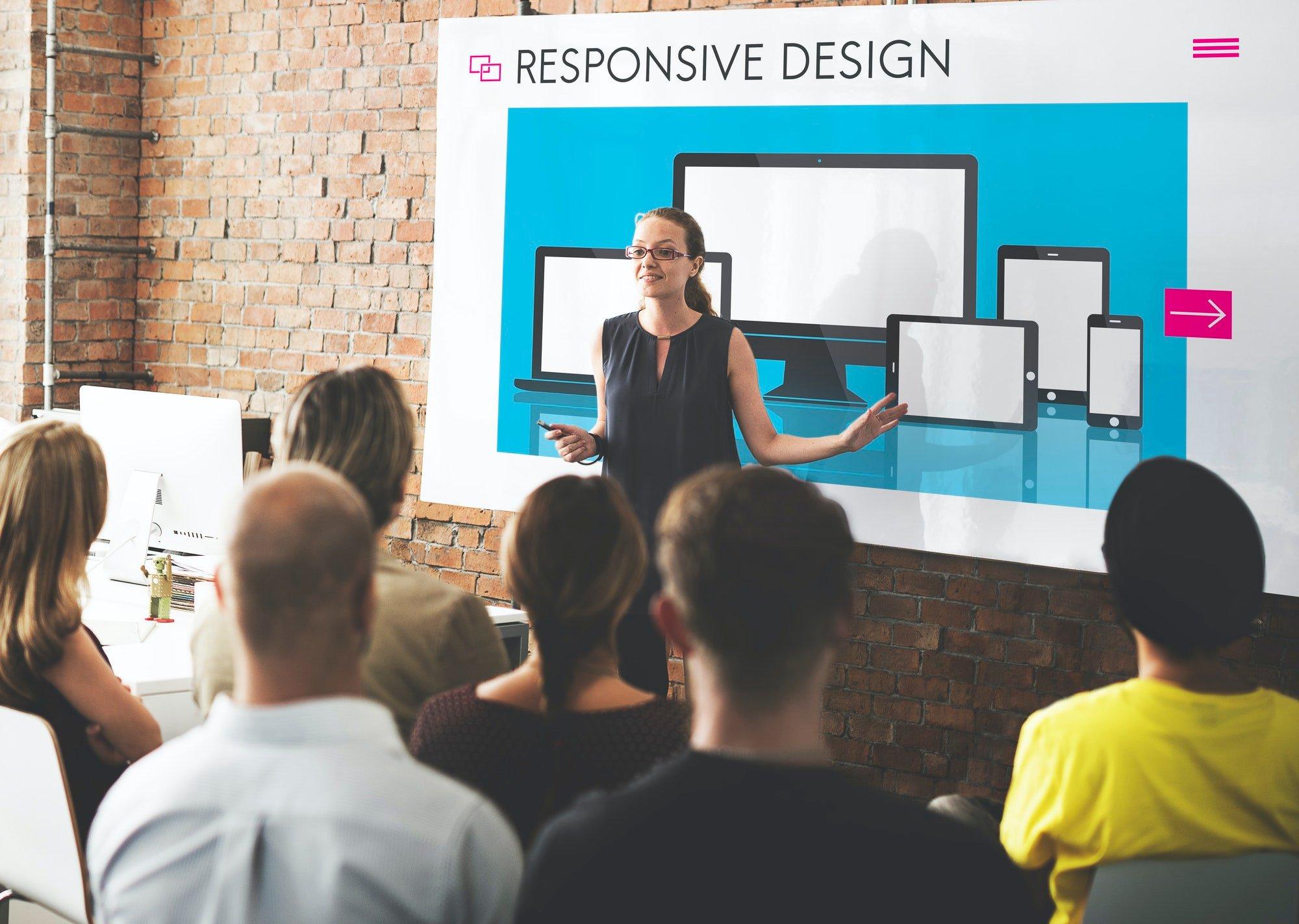 Responsive Design Layout Software Concept
