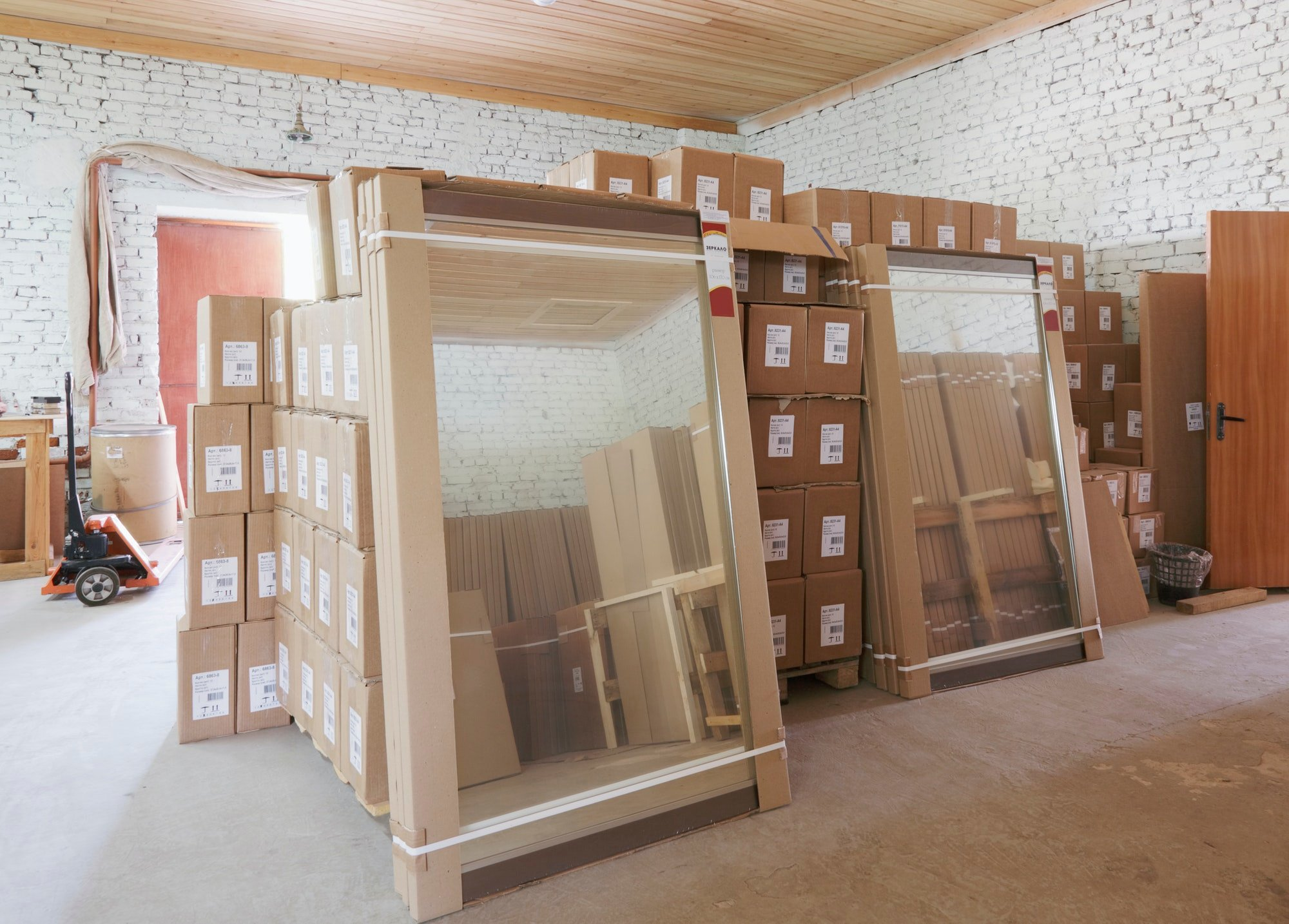 Stored Boxes and Mirrors