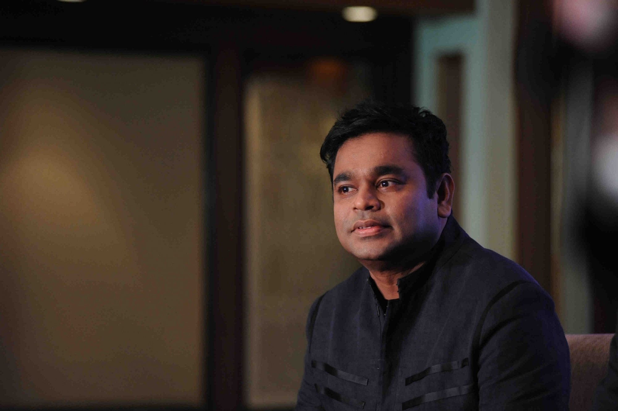 Music composer A R Rahman during the press conference of Premier Futsal, in Mumbai