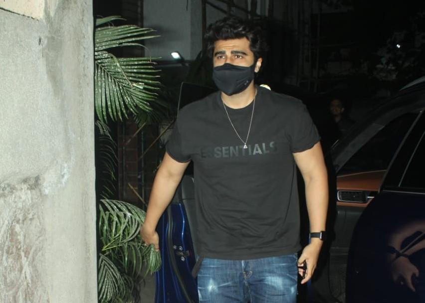 Actor Arjun Kapoor seen at the residence of actress Shabana Azmi, in Mumbai
