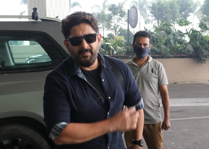 Actor Arshad Warsi seen at the Chhatrapati Shivaji Maharaj International Airport in Mumbai
